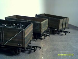 Set of 3 00 Open Coal Wagons Bachmann/Dapol/Airfix Weathered Boxed Good