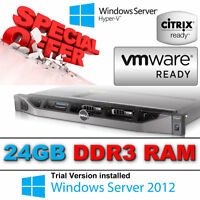 Dell PowerEdge R610 2 x Quad Core XEON X5560 2.80Ghz 24GB 2 x 146gb SAS Perc 6i