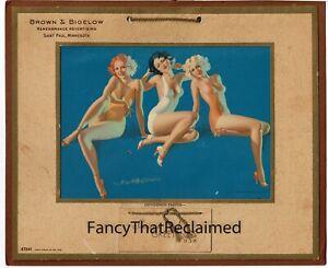 1938 Earl Moran 27241 Brown & Bigelow Pin-Up Print Gentlemen Prefer...