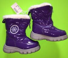NEW! TCP Baby Girls Size Toddler 6 Snow Boots Shoes Zip Purple Gift! Nice Winter