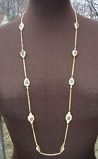 "NEW $495 Melinda Maria Gold-plated Necklace Labradorite 36"" Long"