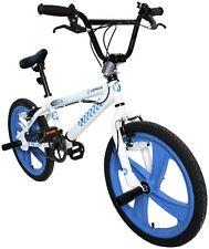 Airwalk 20 Inch Wheels 10 Inch Steel Frame BMX Bike Fahrenheit 601 - White/Blue