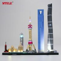 LED Light Up Kit For LEGO 21039 Architecture Shanghai Lighting Set building kit