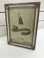 VTG Woolworth Photo Picture Frame 5 X 7 in  Decorative Metal Glass Gold Tone
