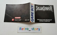 Nintendo Game Boy Solar Striker Notice / Instruction Manual