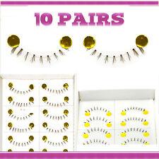 10 Pairs Natural Makeup False Eyelashes Handmade Short Black Eye Lashes 027