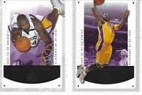 KOBE / SHAQ 2003 UPPERDECK SP AUTHENIC  TWO  NBA CARD LOT LAKERS