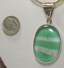 New Shanti-Wear Sedona Dichroic Green Clear 925 Sterling Silver Pendant Handmade