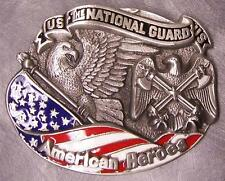 Military Belt Buckle pewter U S Army National Guard NEW