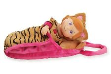 Manhattan Toy Doll Kitty Kylee Cat PJ Tots Pink Tan Sleeping Bag Bed Cloth NEW