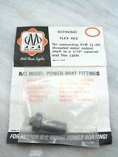 Octura Flex Hex Ocfhkb6Q K & B Threaded Motor Output Shaft To 3/16 Flex Cable