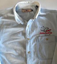 """LEE ~ Classic Denim ~ Men's~ Corvette C-5 Logo Blue L/S Shirt ~ Size Large - 34"""""""