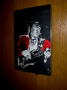 Stevie Ray Vaughn Wall Plaque  by Rock Legends Wall Art