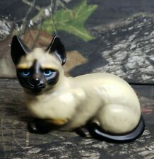Vtg Painted Ceramic Siamese Cat Figurine Made In Japan CB