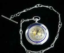 Open Face Swiss Made Silver Plated Pocket Watches