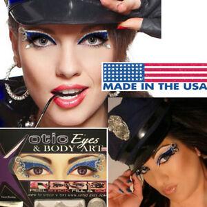 Police Costume Glitter Rhinestones Lashes Handcuffs Easy Sticker Eye Makeup USA
