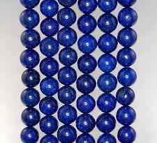 "8MM BLUE JADE GEMSTONE LAPIS BLUE ROUND LOOSE BEADS 15"""