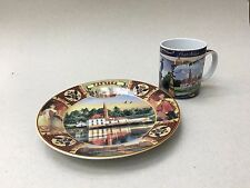 Russian Porcelain Souvenir Plate and Coffee Cup New In Packaging ST Petersburg