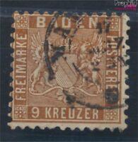 Baden 15a fein (B-Qualität) gestempelt 1862 Wappen (7125360
