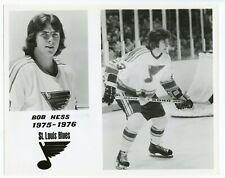 "HTF 1975-76 Bob Hess St. Louis Blues NHL Original Player Press Photo 8""x10"""