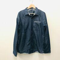 Men's Organic Button Up Shirt Chambray Toad & Co. Medium Long Sleeve Casual