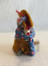 Vintage Original Toy Fur Little Mouse Factory West Germany Hat & Cloak