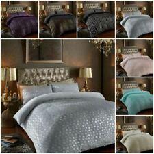 Fleece Duvet Quilt Cover Star Foil Bedding Set With Matching Pillowcase
