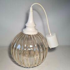 💡 lampe suspension boule en verre vintage année 70