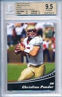2011 Leaf Draft BLACK Limited Edition #5 Christian Ponder RC BGS 9.5 GEM MINT