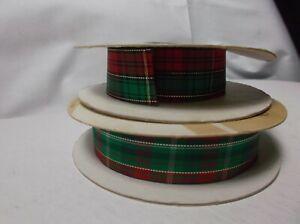 Metallic Red & Green Plaid Ribbon Lion Ribbon Prince Regal Size 5