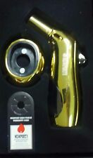 """NEWPORT ZEE ROYAL TORCH FLAME LIGHTER SERIES GOLD W/ STAND QUALITY 6"""" REFILLABLE"""