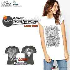 New Laser Iron On Heat Transfer Paper For Dark Fabric 10 Sheets 85 X 11