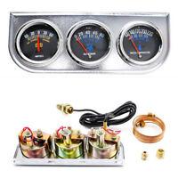 2'' 3in1 Triple Gauge, Voltmeter +Water Temp+Oil Pressure Gauge Meter Instrument