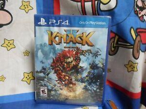 Playstation 4 KNACK II Game BRAND NEW SEALED