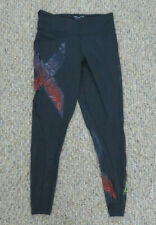 2XU Black Purple Long Length Compression Leggings Running Womens Size L