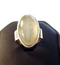 Gorgeous .925 Sterling Silver Prehnite Ring sz6 F74
