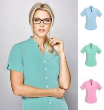 Women's Career Short Sleeve Sleeve Button Down Shirt Tops & Blouses