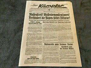 Third Reich Newspaper Re-Print - Der Kaempfer - No 25 - 30/01/1933