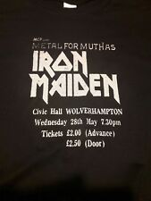 Iron Maiden  1980  T shirt 1980 ticket stub design  NWOBHM handmade limited