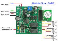 Module Son LSMM - 3 canaux - avec 3 haut-parleurs