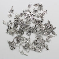 Retro Antique Silver Jewelry Finding Charms Pendants Carfts DIY 77 Styles