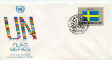 United Nations #414 Flag Series 1983, Sweden, Official Geneva Cachet, Fdc