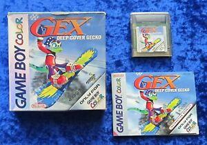 GEX Deep Cover Gecko, Nintendo GameBoy Color Spiel, OVP Anleitung