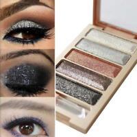 5Colors Shimmer Eyeshadow Palette Makeup Cosmetic Glitter Eye Shadow Matte Set