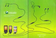 Sony Ericsson Walkman Phone Collection 2004 Magazine Advert #3137