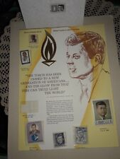 Authentic Stamp Tribute to John F. Kennedy Postal Commemorative Society