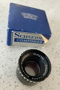 Schneider Kreuznach Enlarger Enlarging Lens Componar 1:4, 5/75 10313761 w/Box