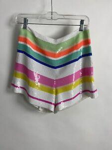Kate Spade Multicolored Stripe Sequin Shorts Size 4