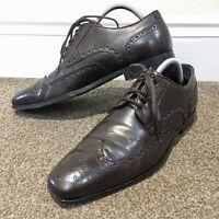 HUGO BOSS Mens Brown Brogue Shoes Uk Size 7
