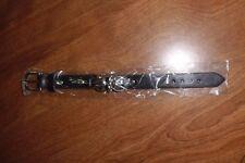 Bracelet New Black Leather Skull